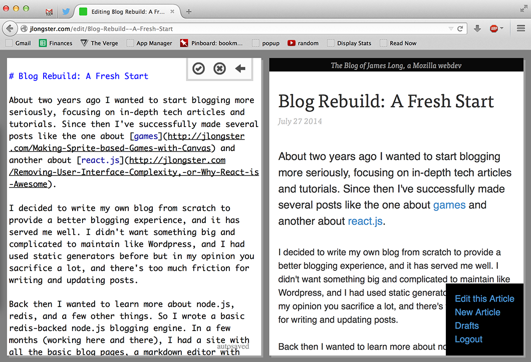 Blog Rebuild: A Fresh Start